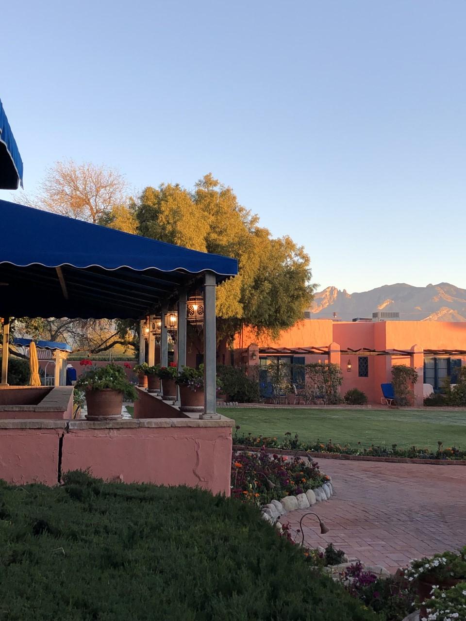 Outside the Arizona Inn