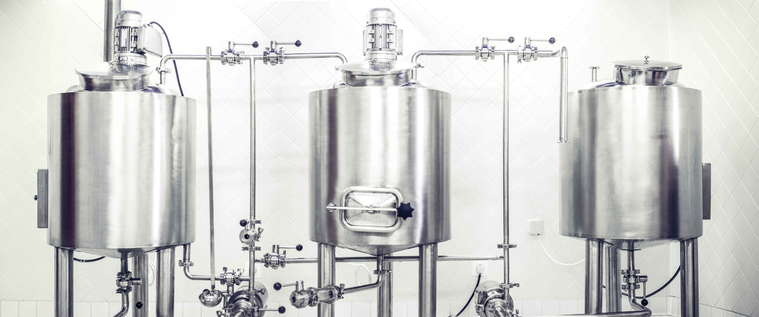 Our micro-brewery allowed us to brew around 75 liters per batch. It   has been set up in order for you to see easily all of the different steps of the brewing process.