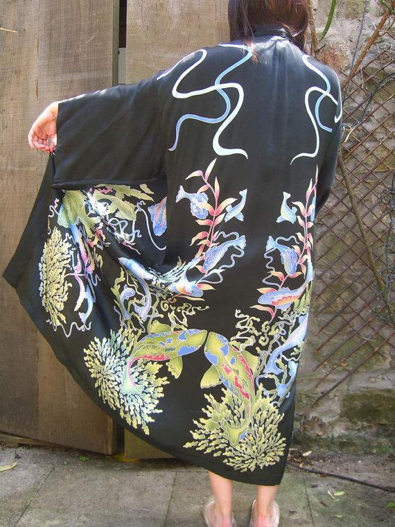 Silk Kimono - Sea Life