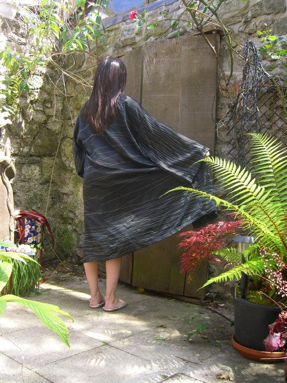 Silk Kimono - Stripe