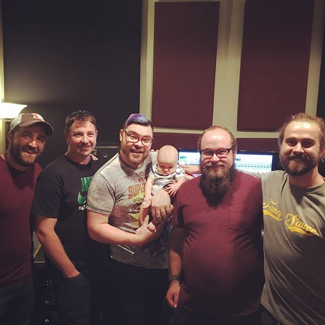 Great session at @thekeeprecording today. We've been dragging our feet on our first EP, but mad some excellent progress today and my baby boy had his first studio visit. #studiobabyhangz #thekeepfamily