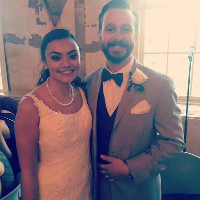 Congrats to our handsome drummer Ben Hatch and his lovely bride April, who got hitched yesterday We are so stoked to be expanding our musical family and couldn't be happier for them!