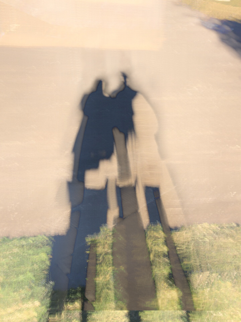 Photo of our shadow using Slow Sutter Cam