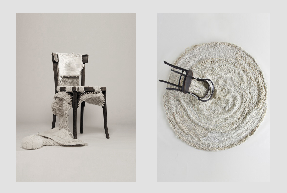 Knitted chair, 2009 & Thonet Carpet, 2008.