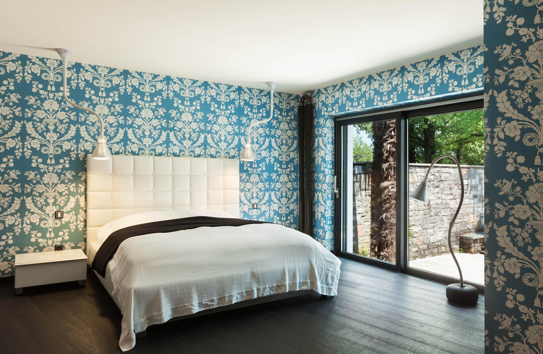 Gestaltung Schlafzimmer mit Tapete