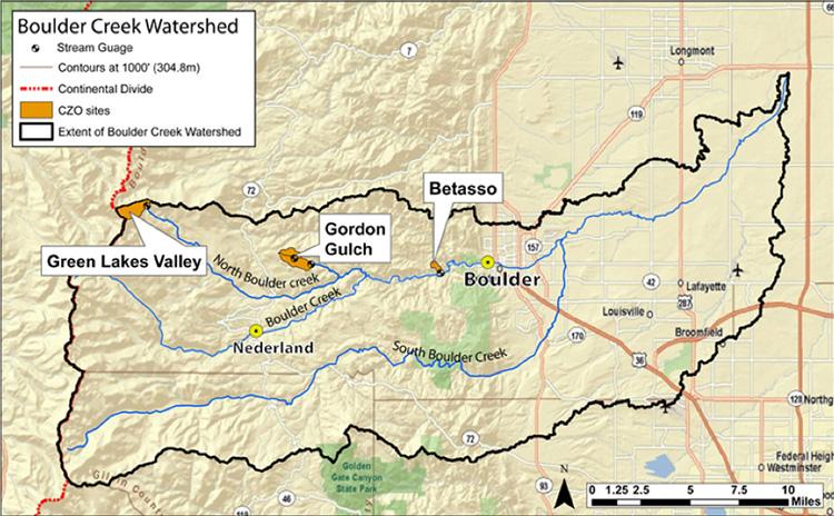 Map source:  http://czo.colorado.edu/html/sites.shtml