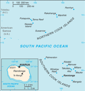 Figure 3 Map of the Cook Islands