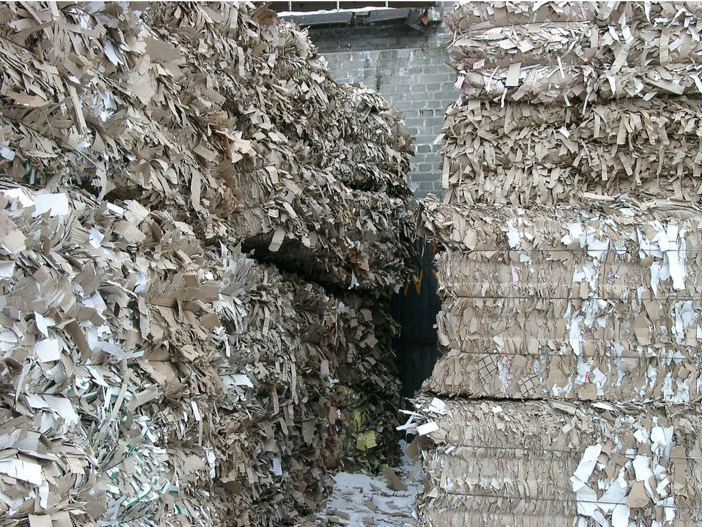 Figure 4 Cardboard scraps awaiting recycling at paper factory in Poland. Photo by  taw .