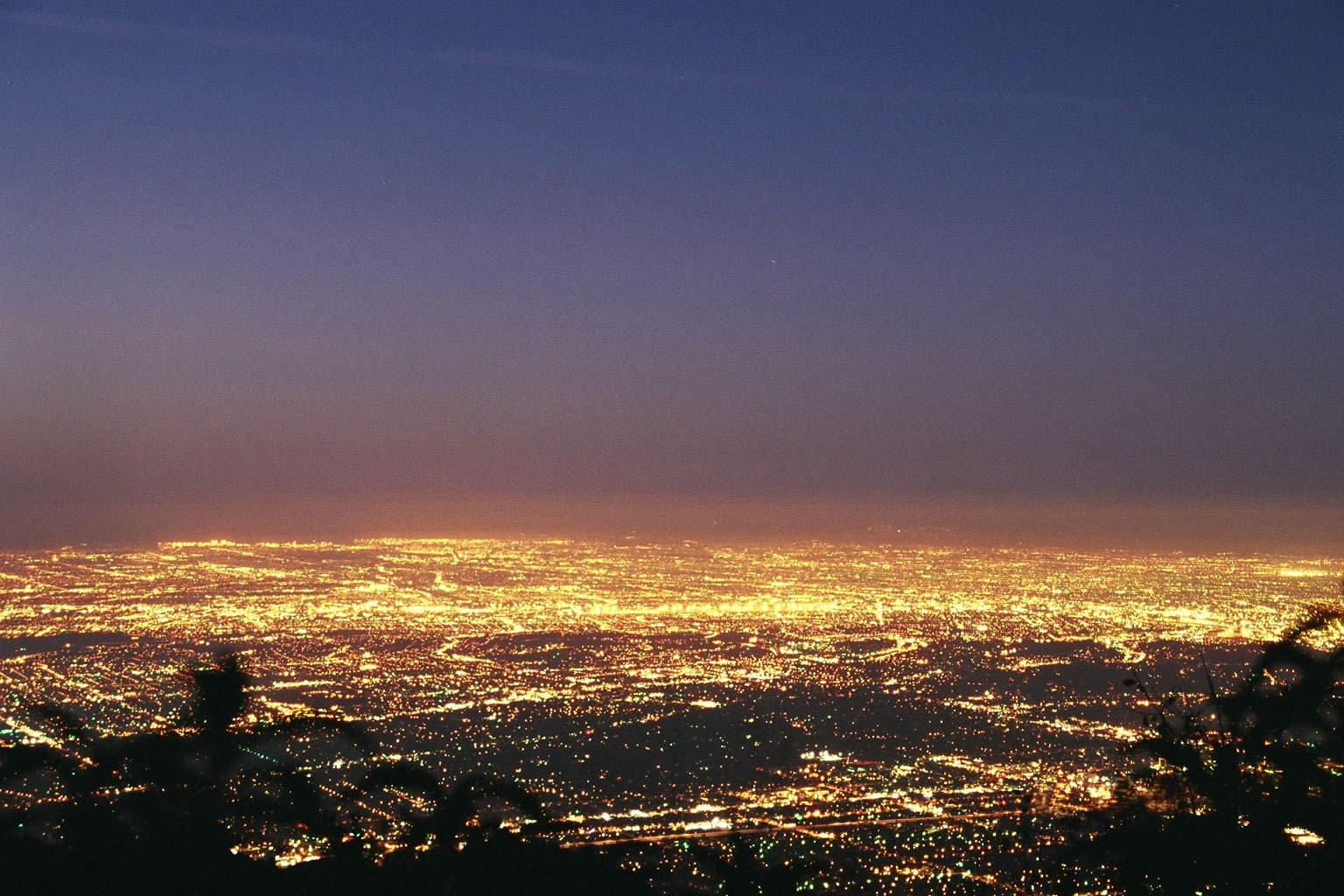 Los Angeles basin night sky.