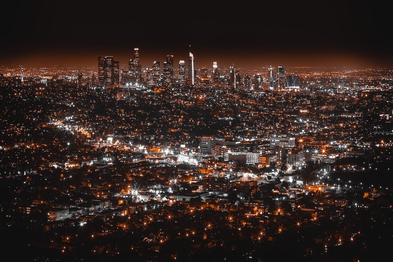 Figure 2 Sky glow. Griffith Observatory, Los Angeles US. Photo by Denys Nevozhai on Unsplash