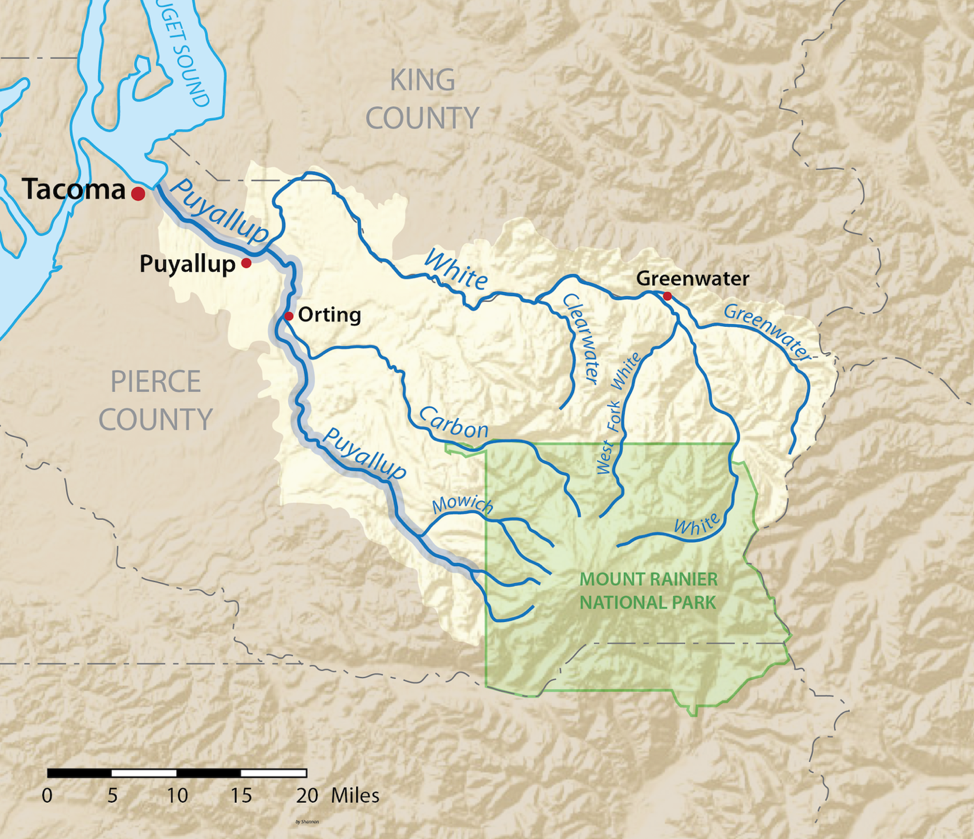Figure 5 Map of the Puyallup River.