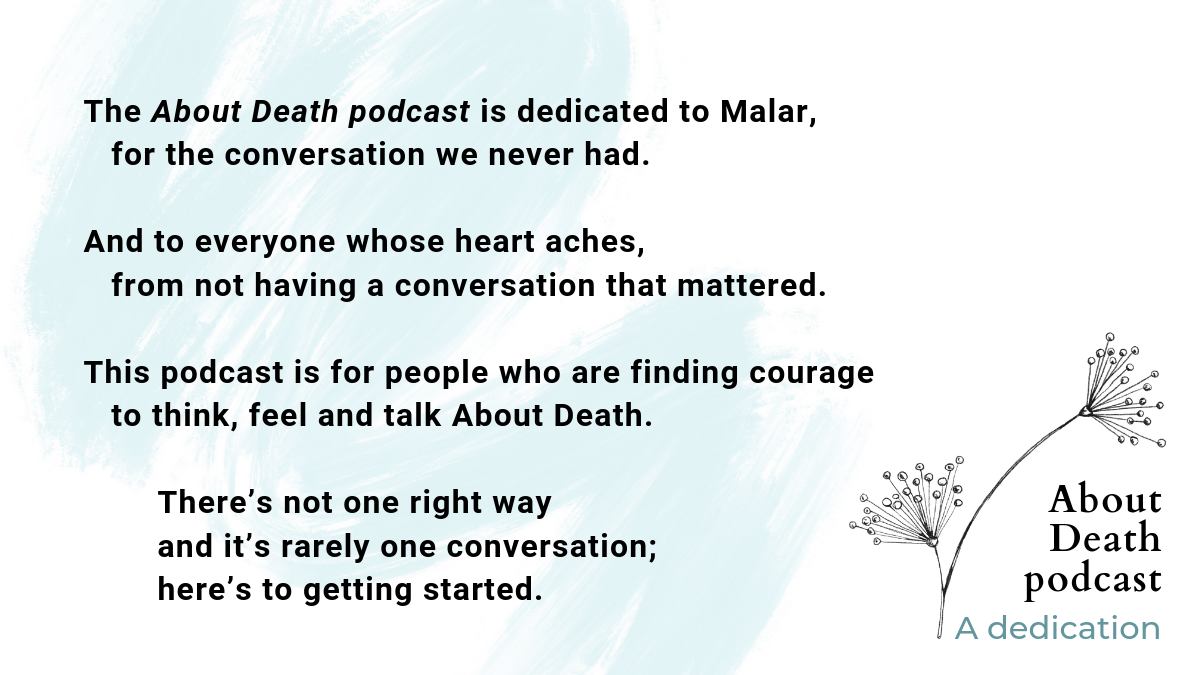 About Death podcast dedication.png
