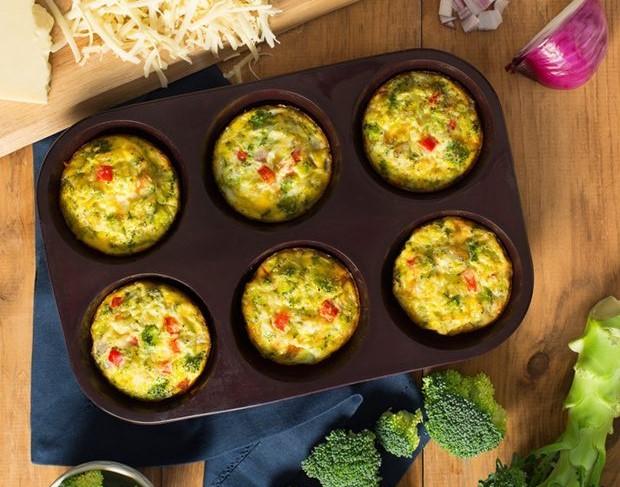 veggie & cheddar crustless quiche