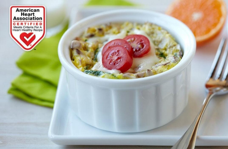microwave egg & veggie breakfast bowl