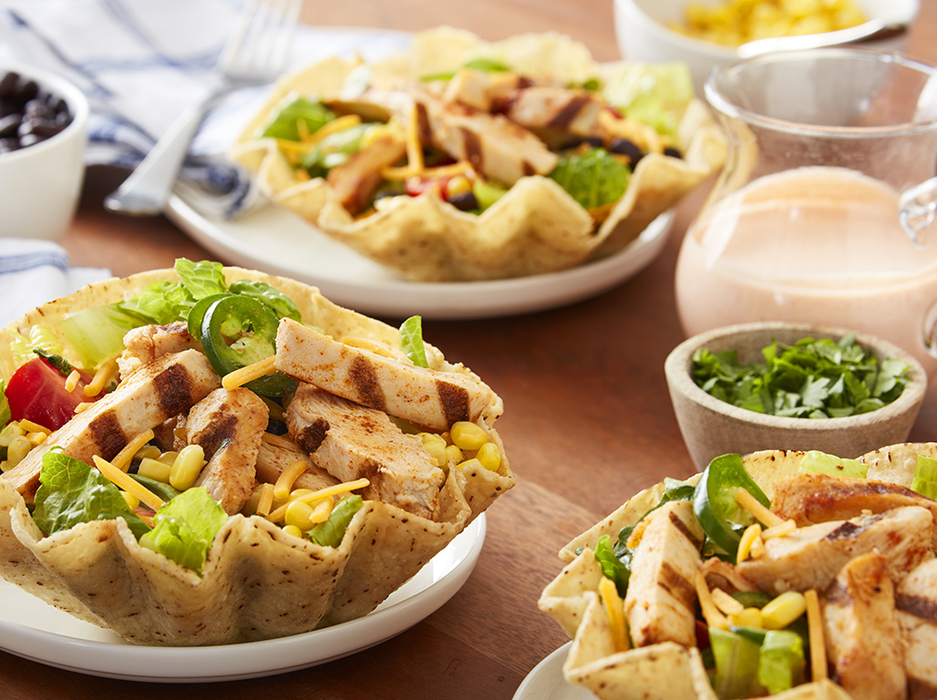 10 Minute Chicken Taco Salad