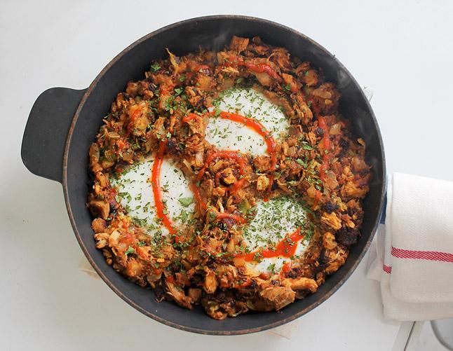 Leftover Thanksgiving Turkey & Chorizo Breakfast Hash