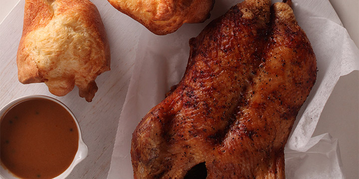 < Previous / Next > Roast Duck with Green Peppercorn Sauce