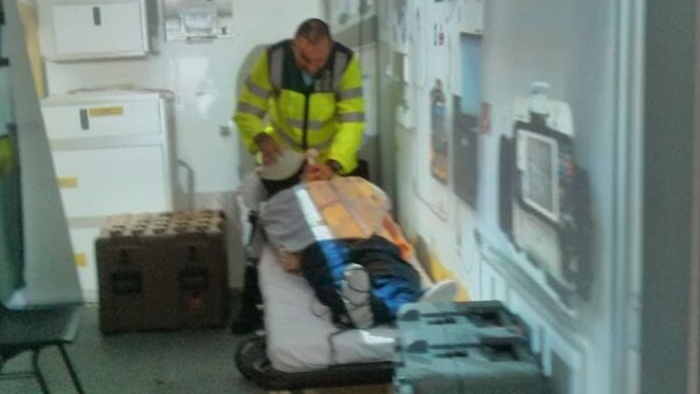 In the Ambulance   -  Put paramedics through their paces in the back of an ambulance en route to hospital, with all the noise and a tight working space to contend with.