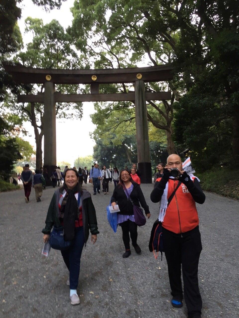 Walking to the Meiji Shrine