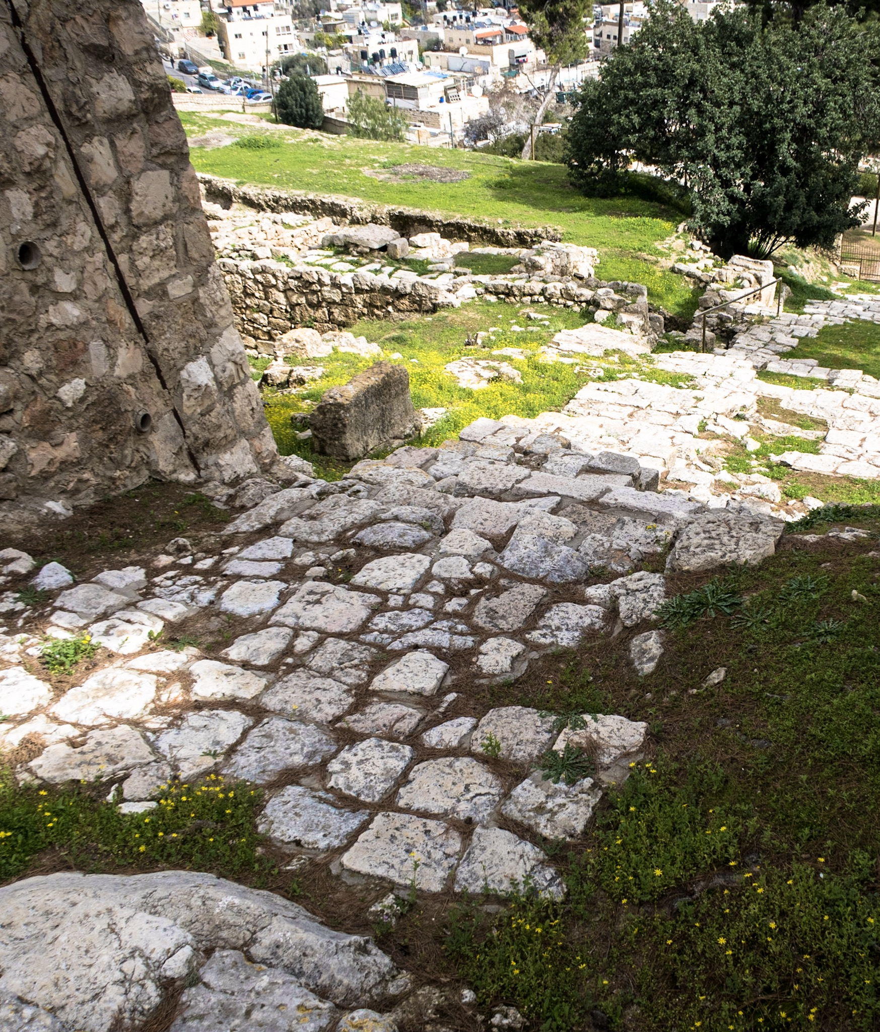 an ancient road outside the High Priest's house - a road Jesus likely walked