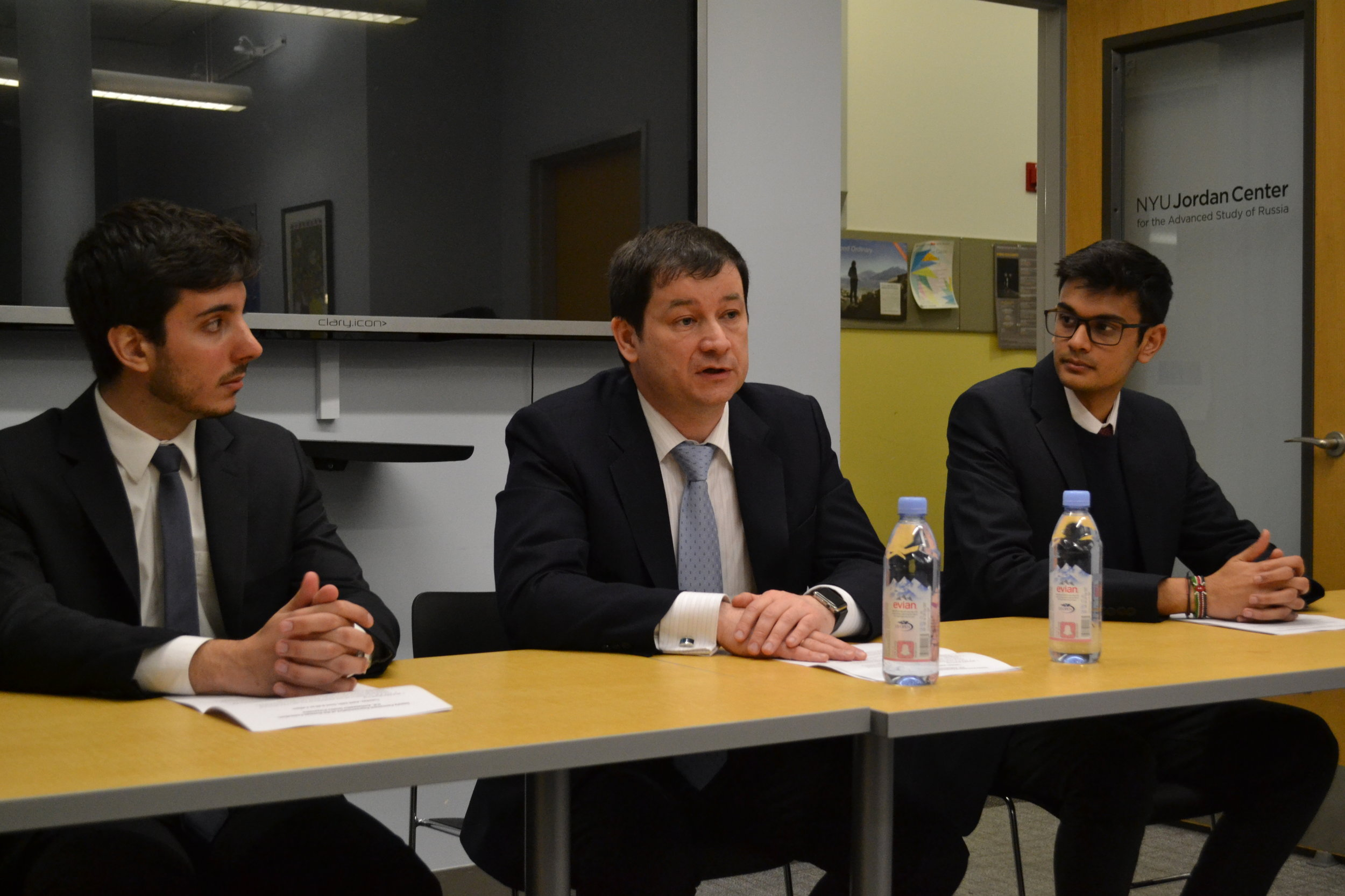 Discussion with the Russian Federation's Deputy Permanent Representative to the UN, H.E. Dmitry Polyanskiy.