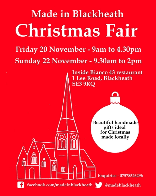 Blackheath Christmas Fair Lewisham Card