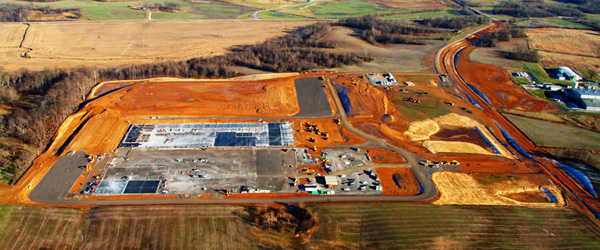 WBK provides  FAST  track site work for new industrial plants, distribution centers, and commercial developments