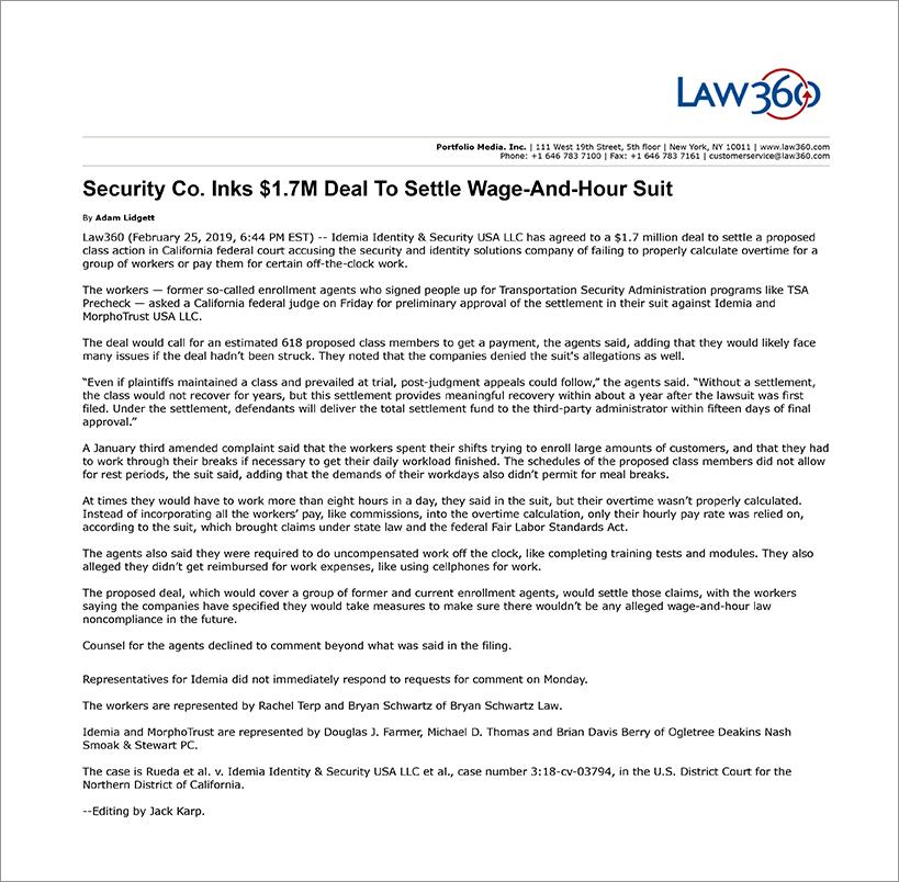 Law 360 02-26-19
