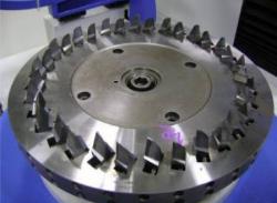 Gear Sticks installed in cutting head