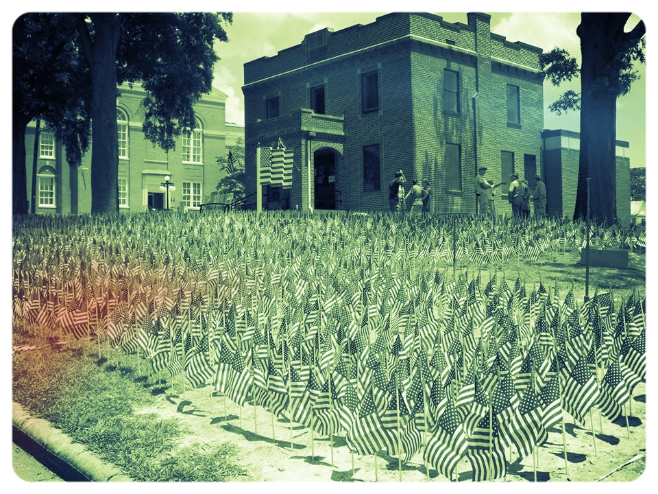 Saluda County Library Field of Flags 2010.jpg