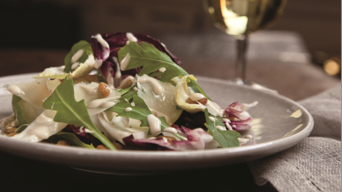 Endive Salad with Creamy Pine Nut Dressing