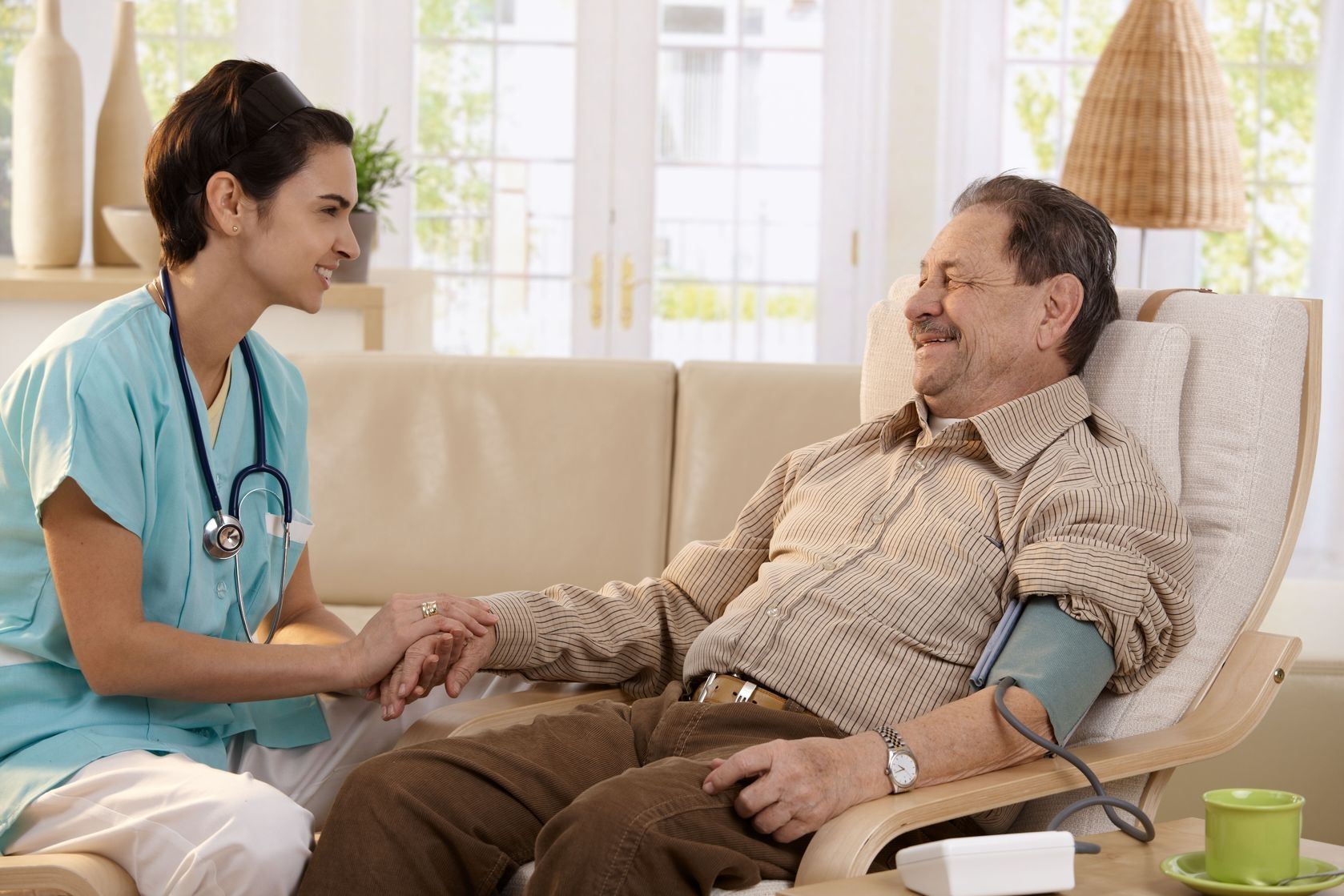 Nurse with old man