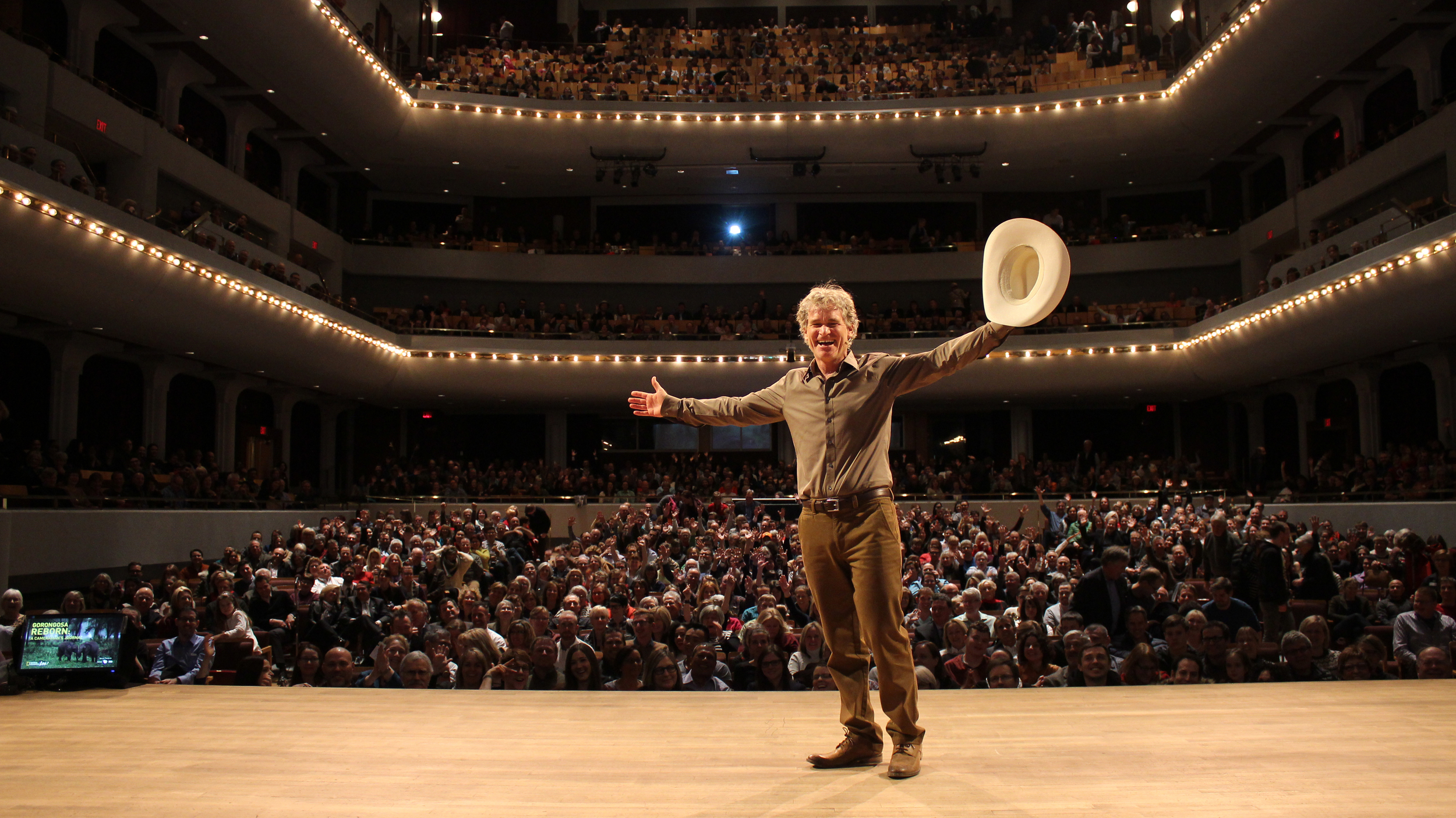 """White Hatted"" in Calgary for National Geographic LIVE at Jack Singer Concert Hall"