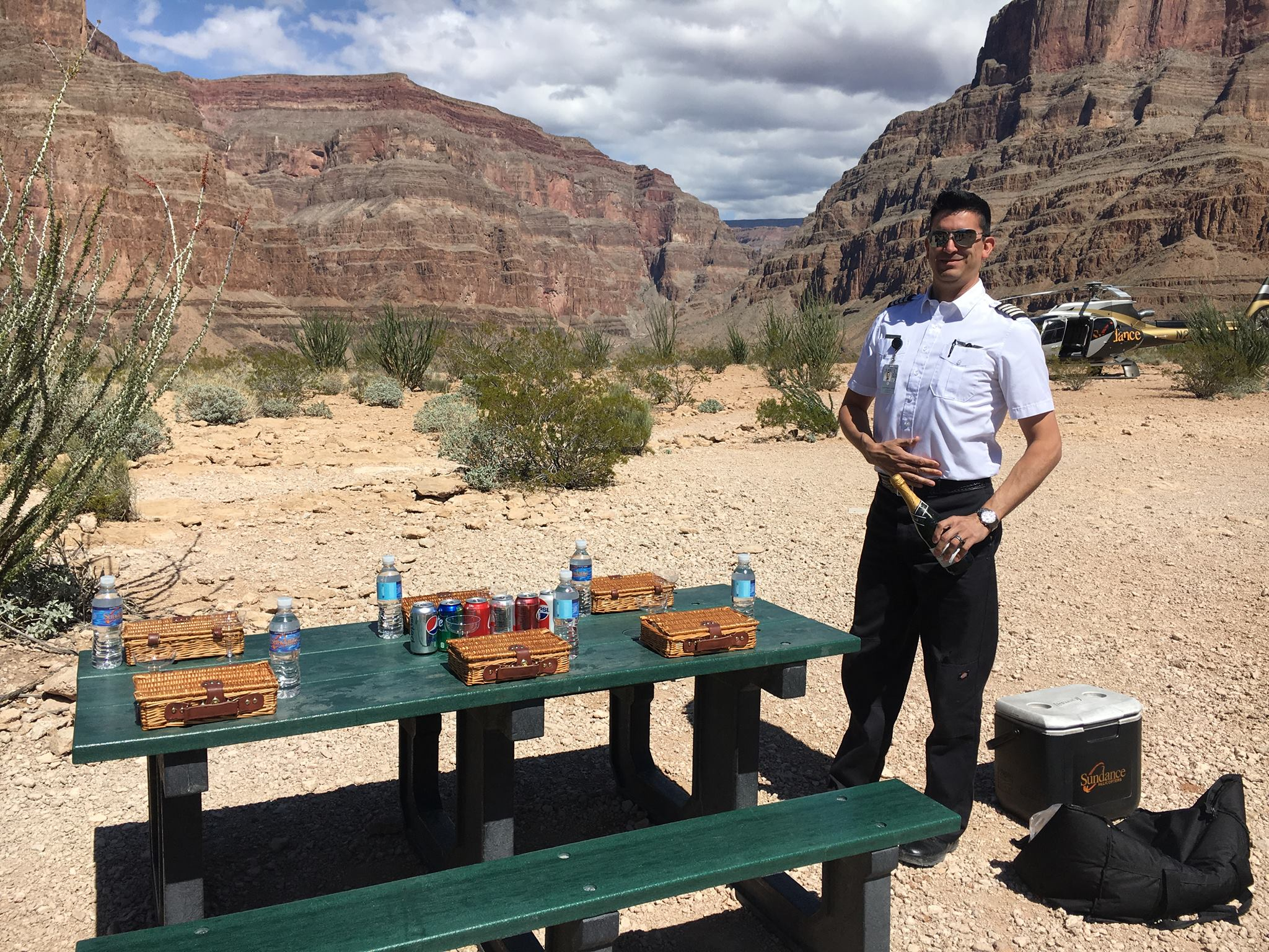 Sudance Helicopters Grand Canyon Picnic