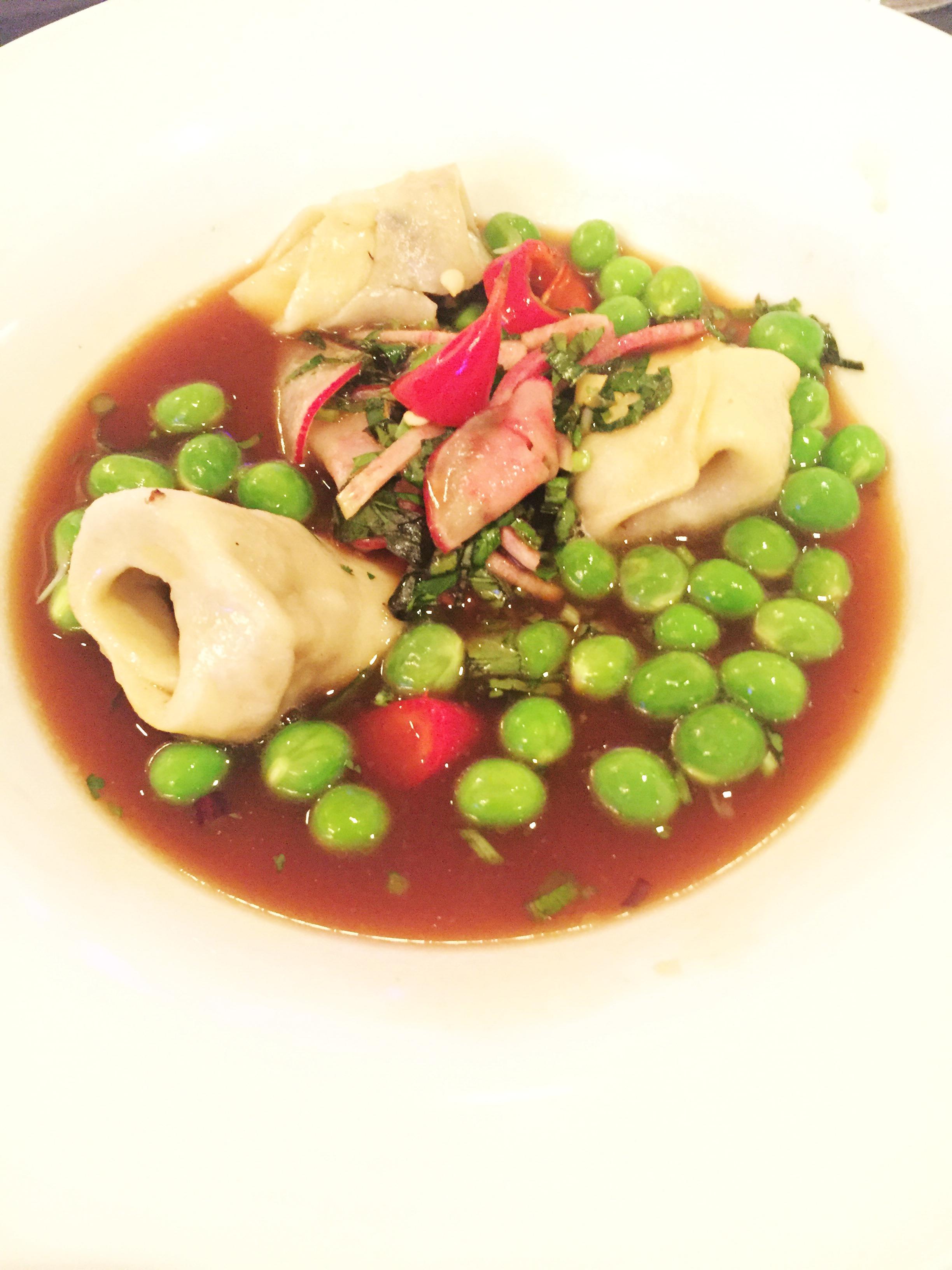 Smoked Mushroom Tortellini (Andy Dombrowski - Zack Buell Restaurants) + 2011 Chateau D'Argadens Rouge