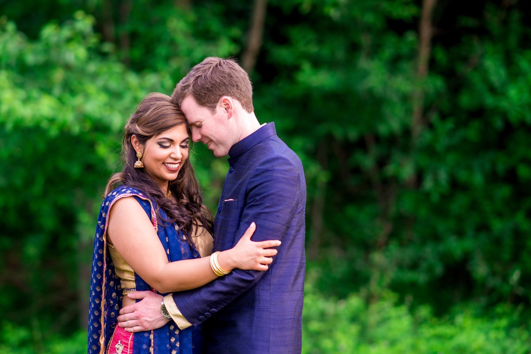 Sonya and Steve at their Sangeet. Photo by BrookeTysonPhotography.com