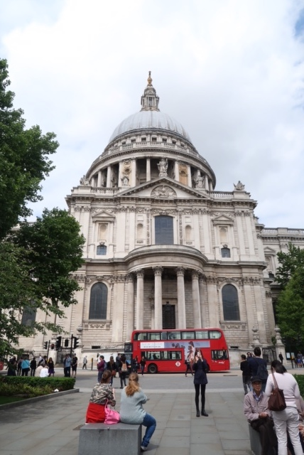 I took this picture as much for St. Paul's Cathedral as for the iconic double decker bus. I absolutely love riding in the very front on the top deck - its an amazing view of the city and we got to ride the bus like a local a few times on our trip!