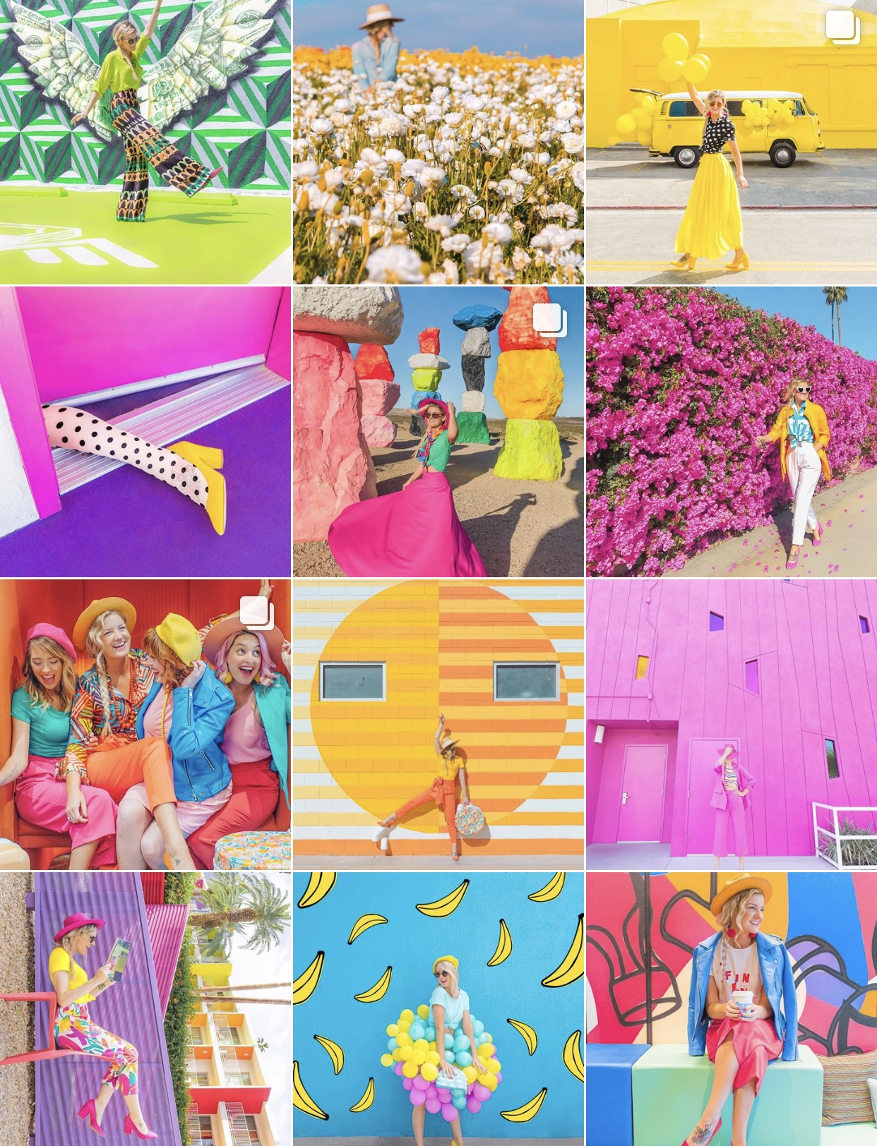 Instagram:  Leslie Schneider   Leslie's account is newer to me, but it makes me happy with all its fun color
