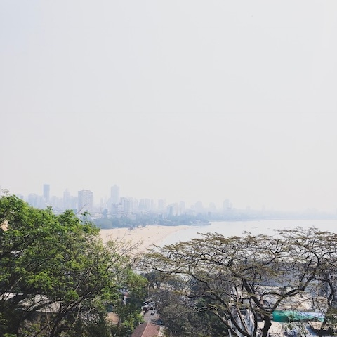 View of Chowpatty Beach from Kamla Nehru Park