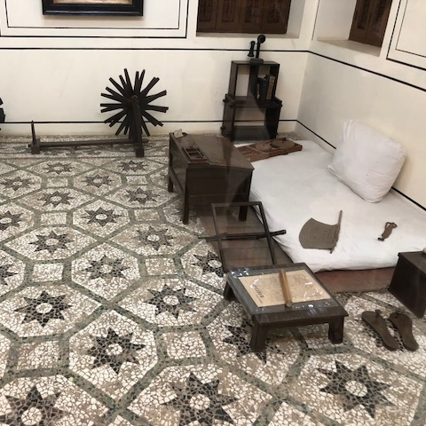 Gandhi's possessions from his stay in Mumbai