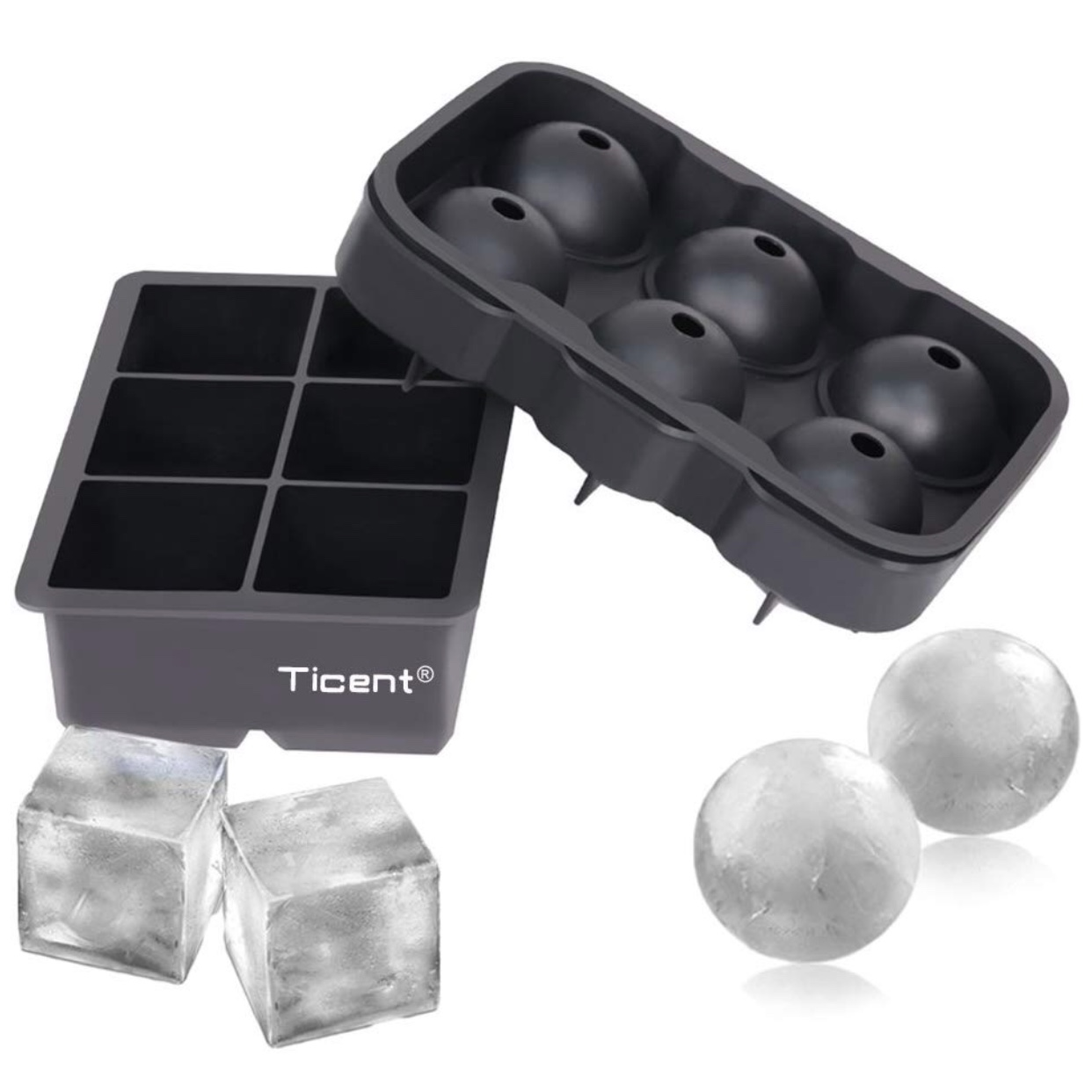 Gifts for people who like to drink: Ice Cube Trays for large ice cubes. Great for drinks on the rocks!