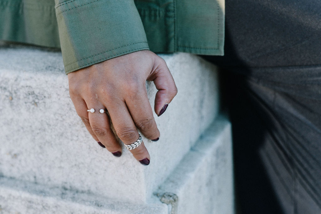 Stacking rings is one of my favorite ways to add visual interest and texture to my hands. Our  Capsule Two Duo Rings  makes it easy to get started with stacked rings. #showmeyourrings