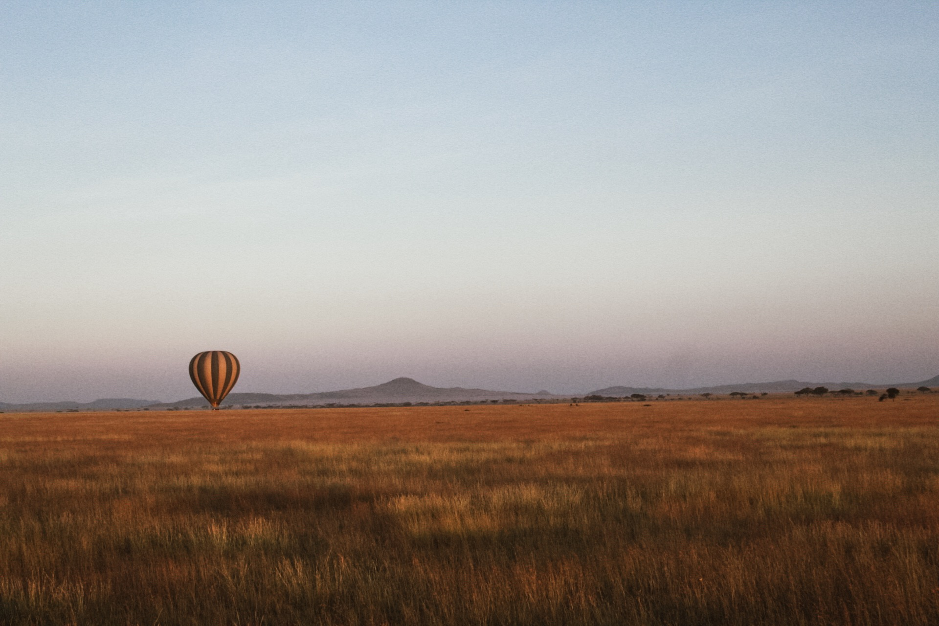 My first hot air balloon ride didn't disappoint. Sunrise over the Serengeti was truly magical, and the ride was followed by a champagne toast and a full English breakfast on the banks of a river under an acacia tree. Casual.