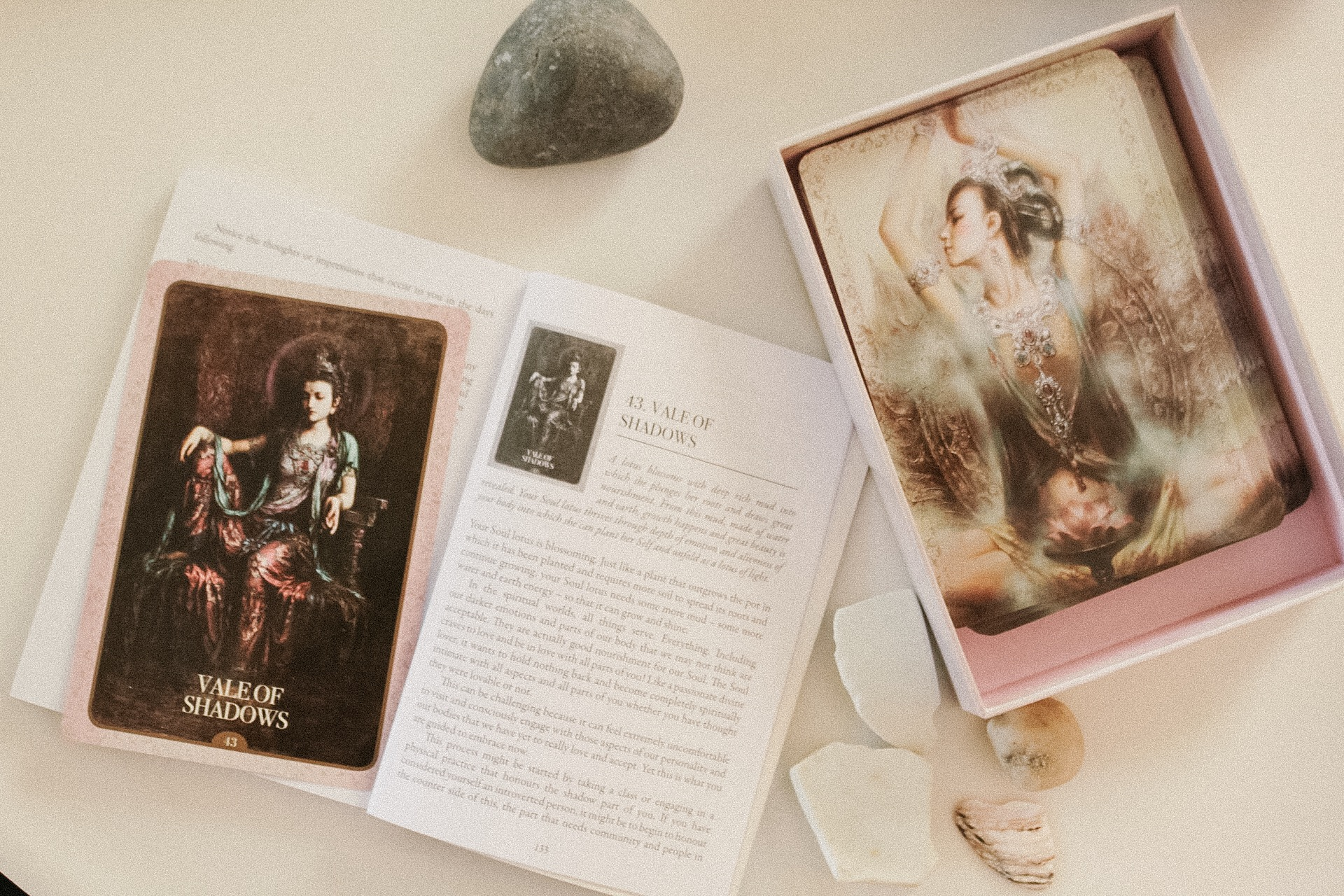 The  Kuan Yin Oracle  deck is so beautiful