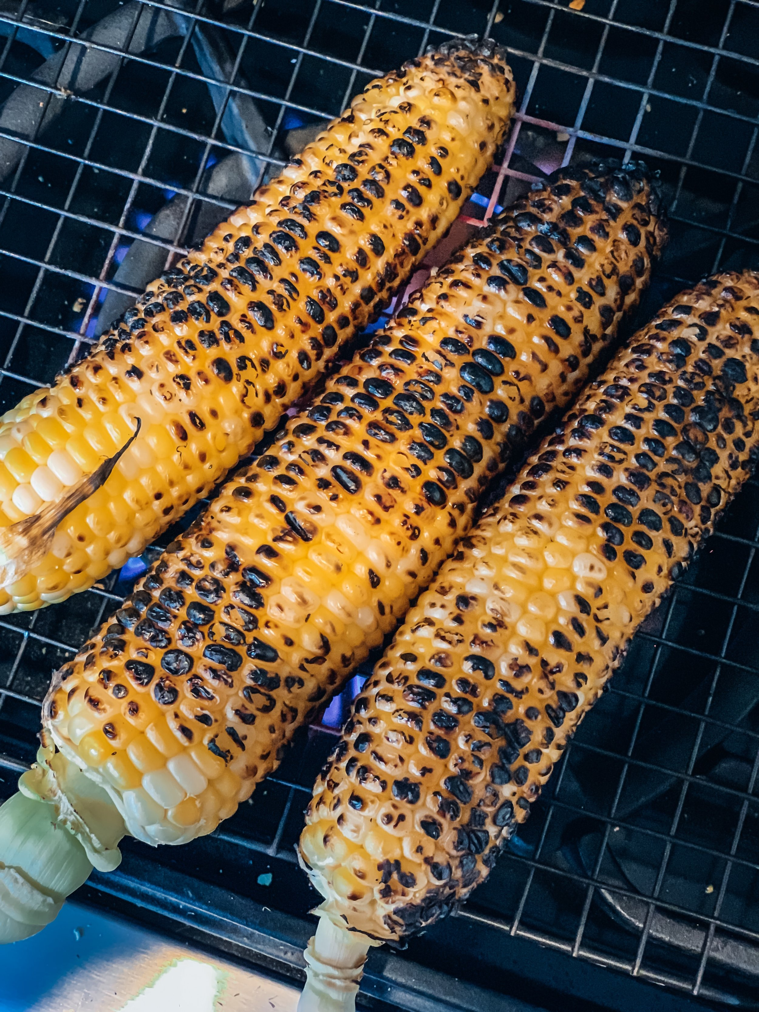 If you don't have a grill, you can make this Indian Style Street corn indoors, as long as you have a gas stove.