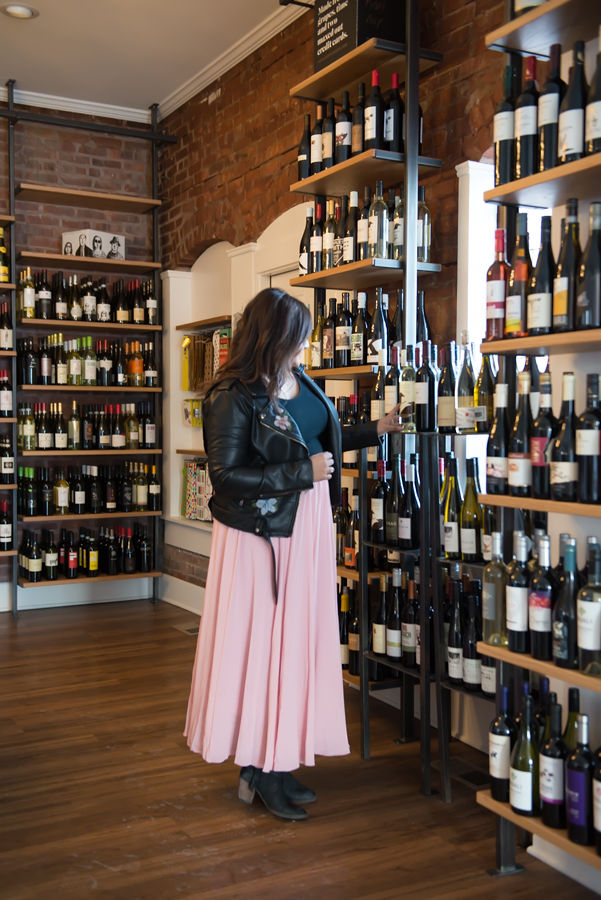 Checking out some of the gorgeous wines on the shelves at Flight Cleveland! Make sure you follow them on  Instagram  so you're up to date on their events!