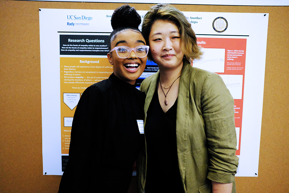 desiree and rainy @ honors poster session, june 2019