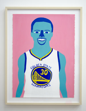 """Steph , 2016,acrylic and pencil on paper, 30""""x22"""""""
