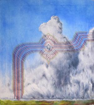 "Rachael Gorchov,  Eight Thirty , 2016, Terra cotta and assorted glazes, 13""x13""x9"""