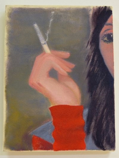 Sarah Thibault, Shelley , 2017, oil on canvas, 12 x 9 inches